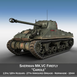 Sherman MK VC Firefly - Carole 3d model high poly virtual reality