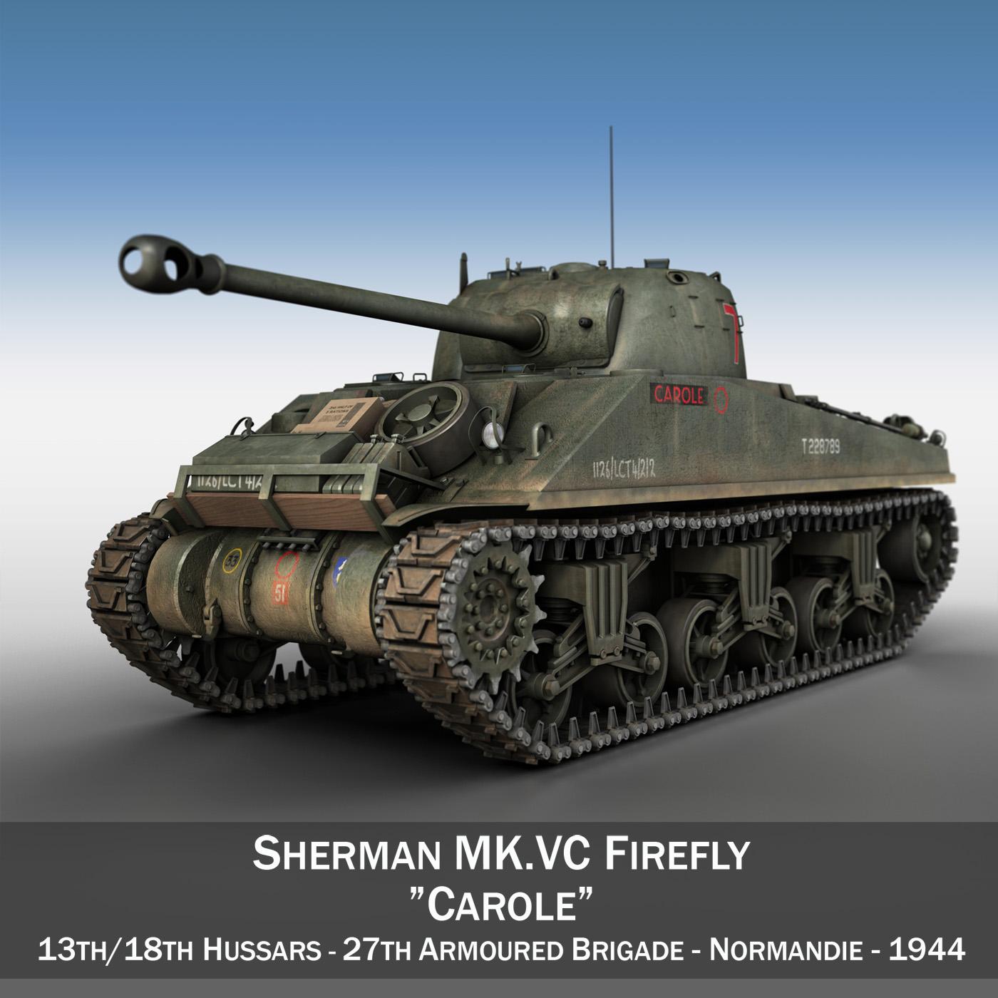 sherman mk vc firefly – carole 3d model 3ds fbx lwo lw lws obj c4d 266505