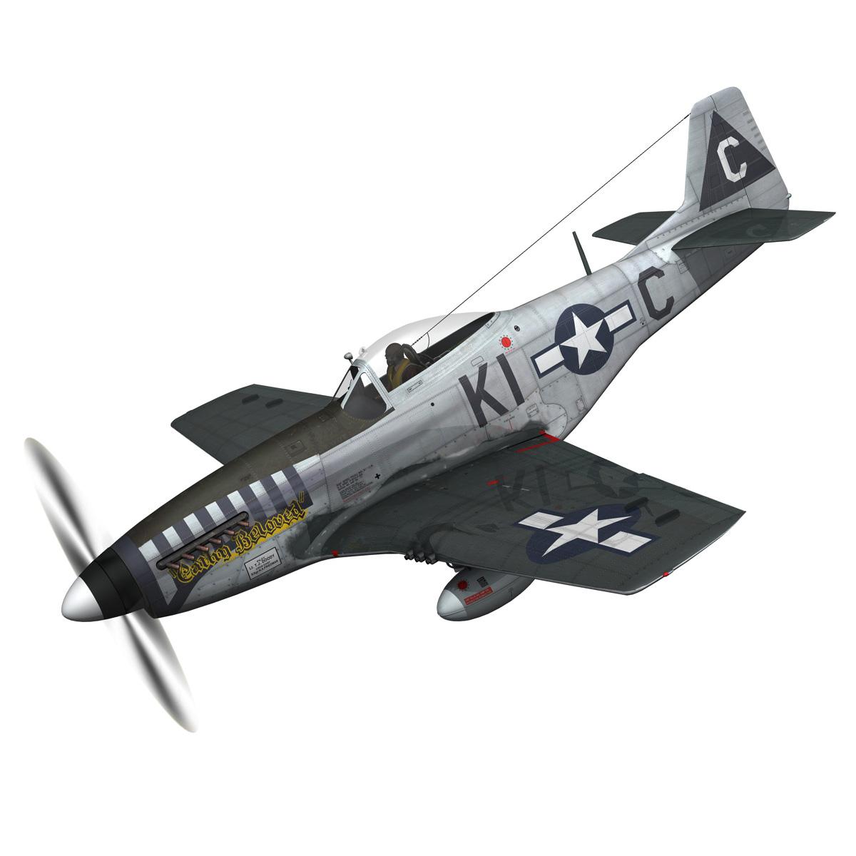 north american p-51d mustang – cathy beloved 3d model fbx lwo lw lws obj c4d 266530
