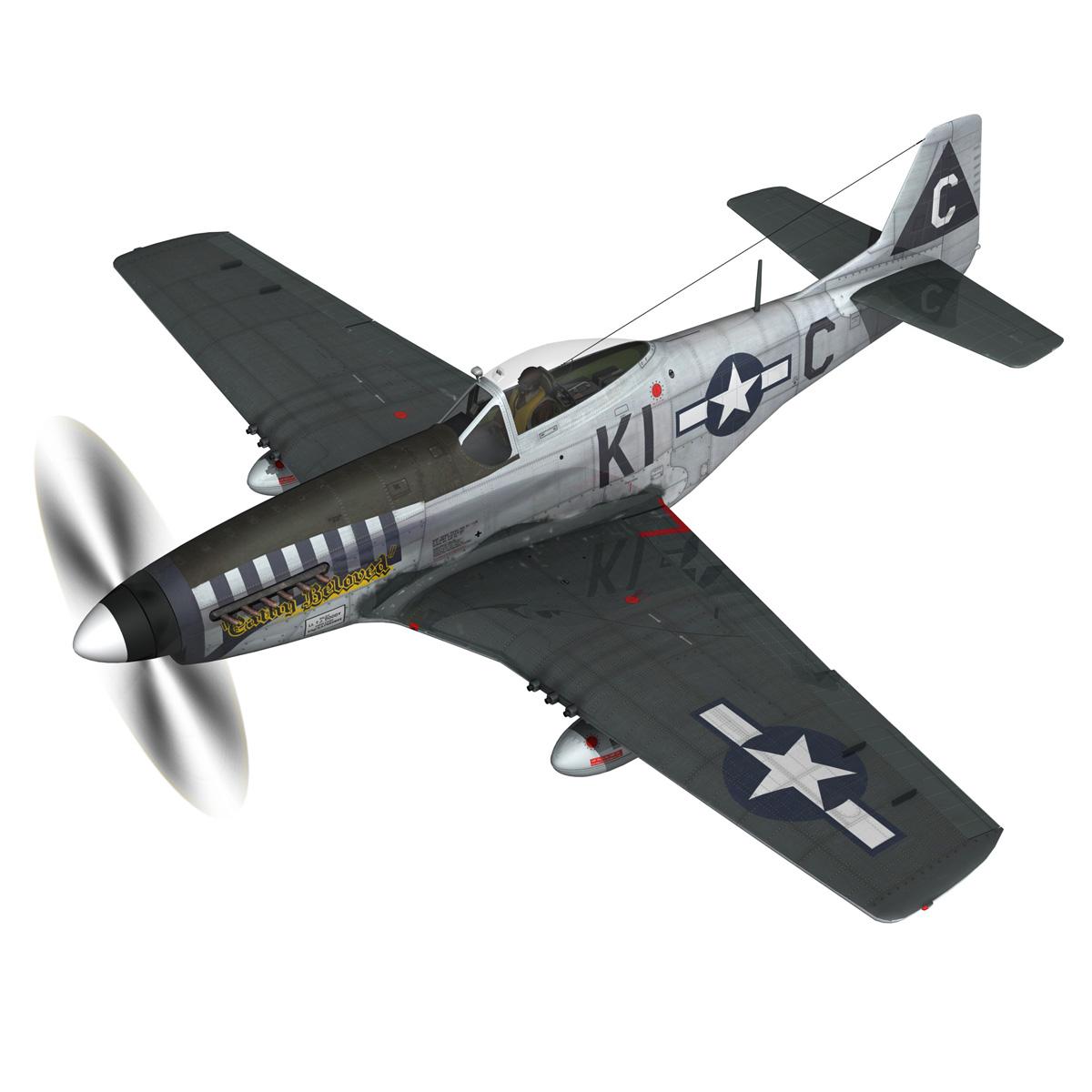 north american p-51d mustang – cathy beloved 3d model fbx lwo lw lws obj c4d 266531