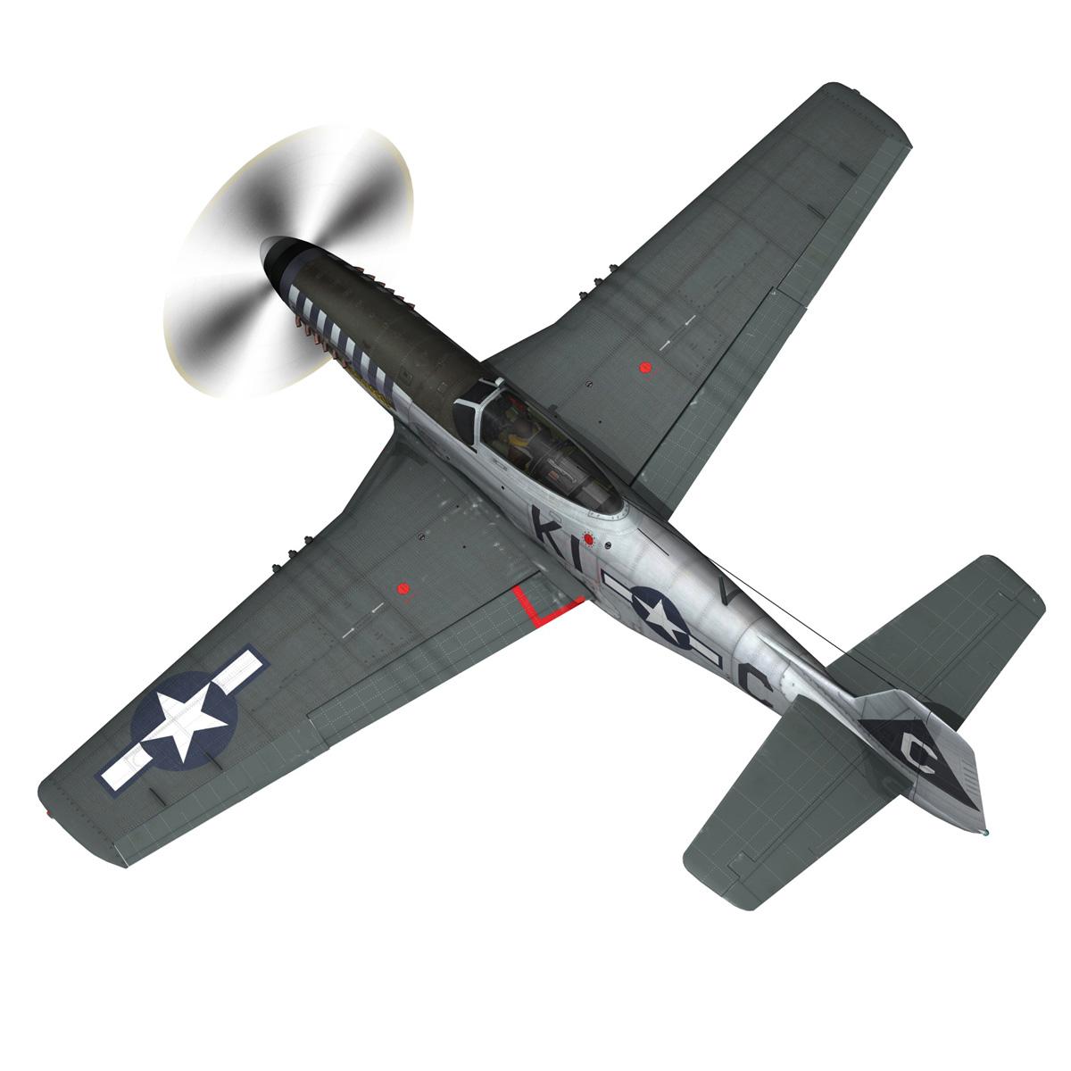 north american p-51d mustang – cathy beloved 3d model fbx lwo lw lws obj c4d 266533
