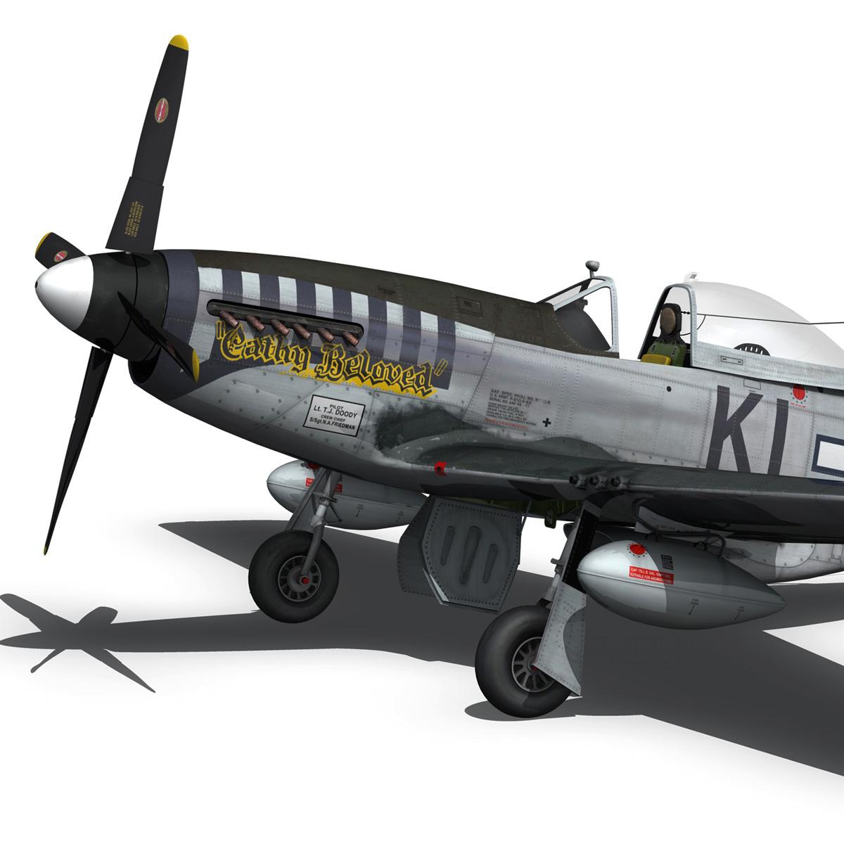 north american p-51d mustang – cathy beloved 3d model fbx lwo lw lws obj c4d 266537