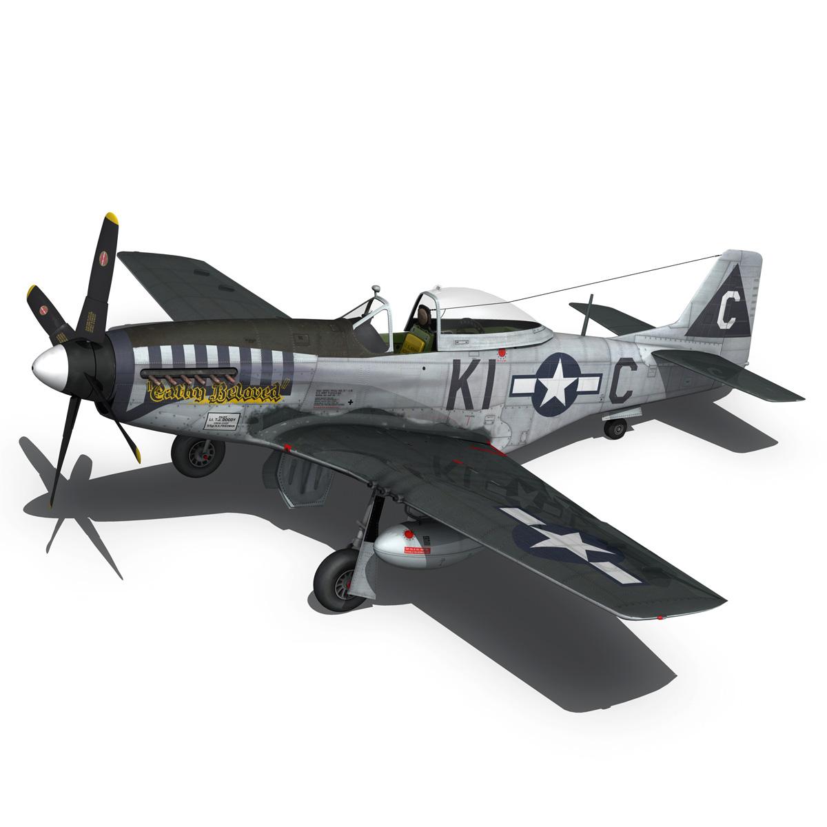 north american p-51d mustang – cathy beloved 3d model fbx lwo lw lws obj c4d 266538