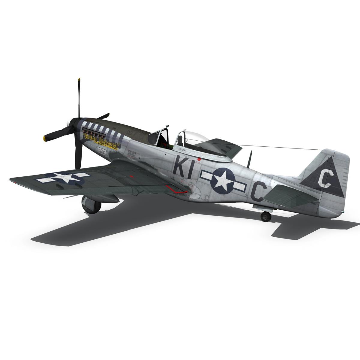north american p-51d mustang – cathy beloved 3d model fbx lwo lw lws obj c4d 266539