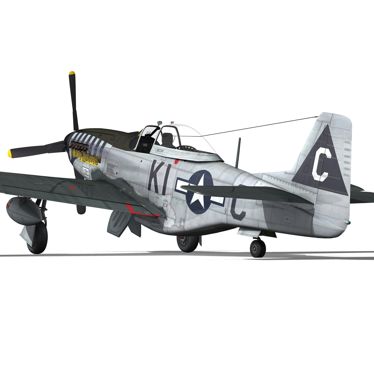 north american p-51d mustang – cathy beloved 3d model fbx lwo lw lws obj c4d 266540