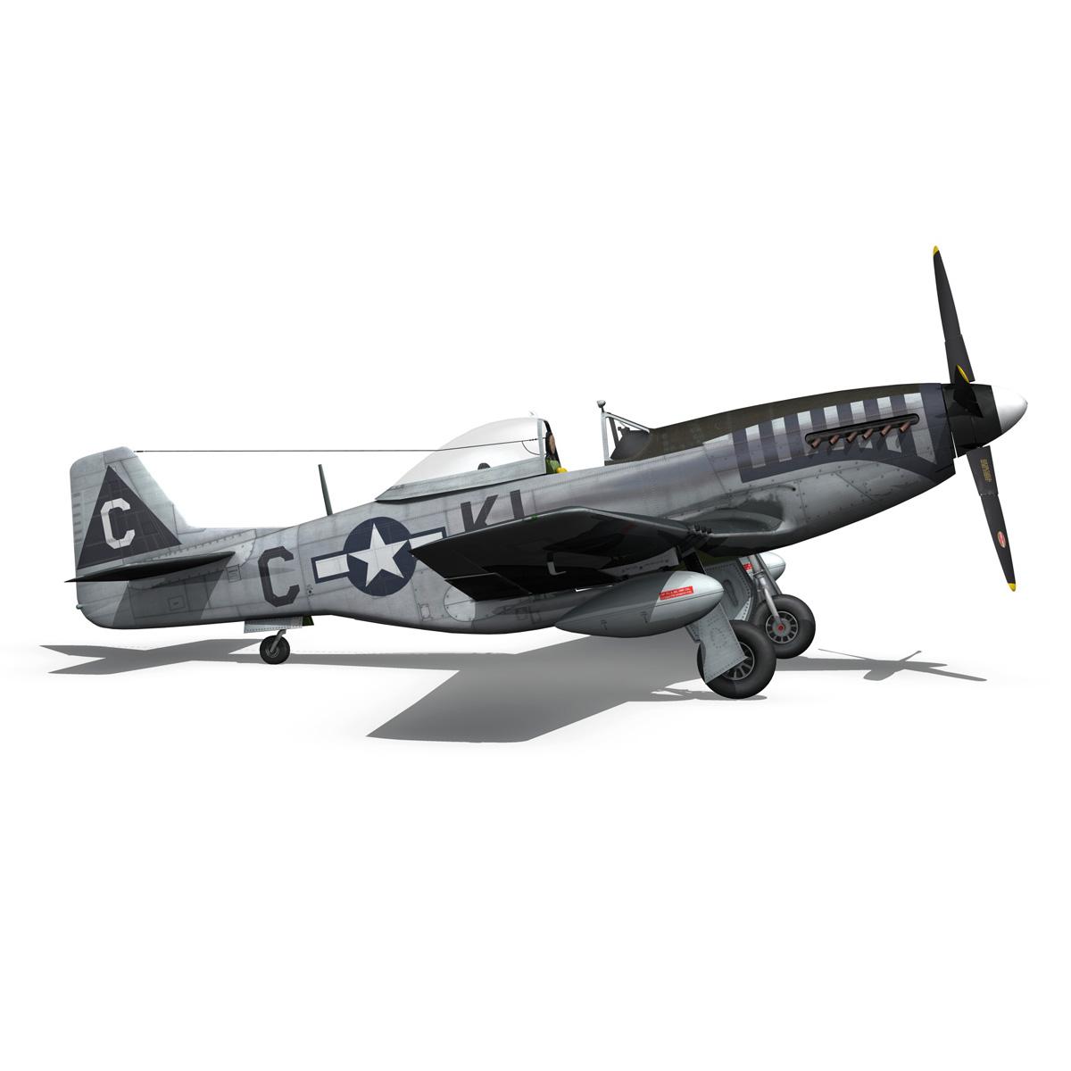 north american p-51d mustang – cathy beloved 3d model fbx lwo lw lws obj c4d 266541