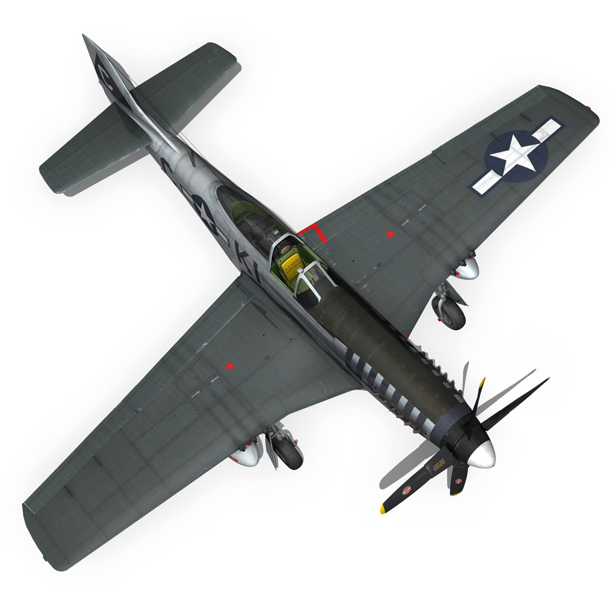 north american p-51d mustang – cathy beloved 3d model fbx lwo lw lws obj c4d 266542