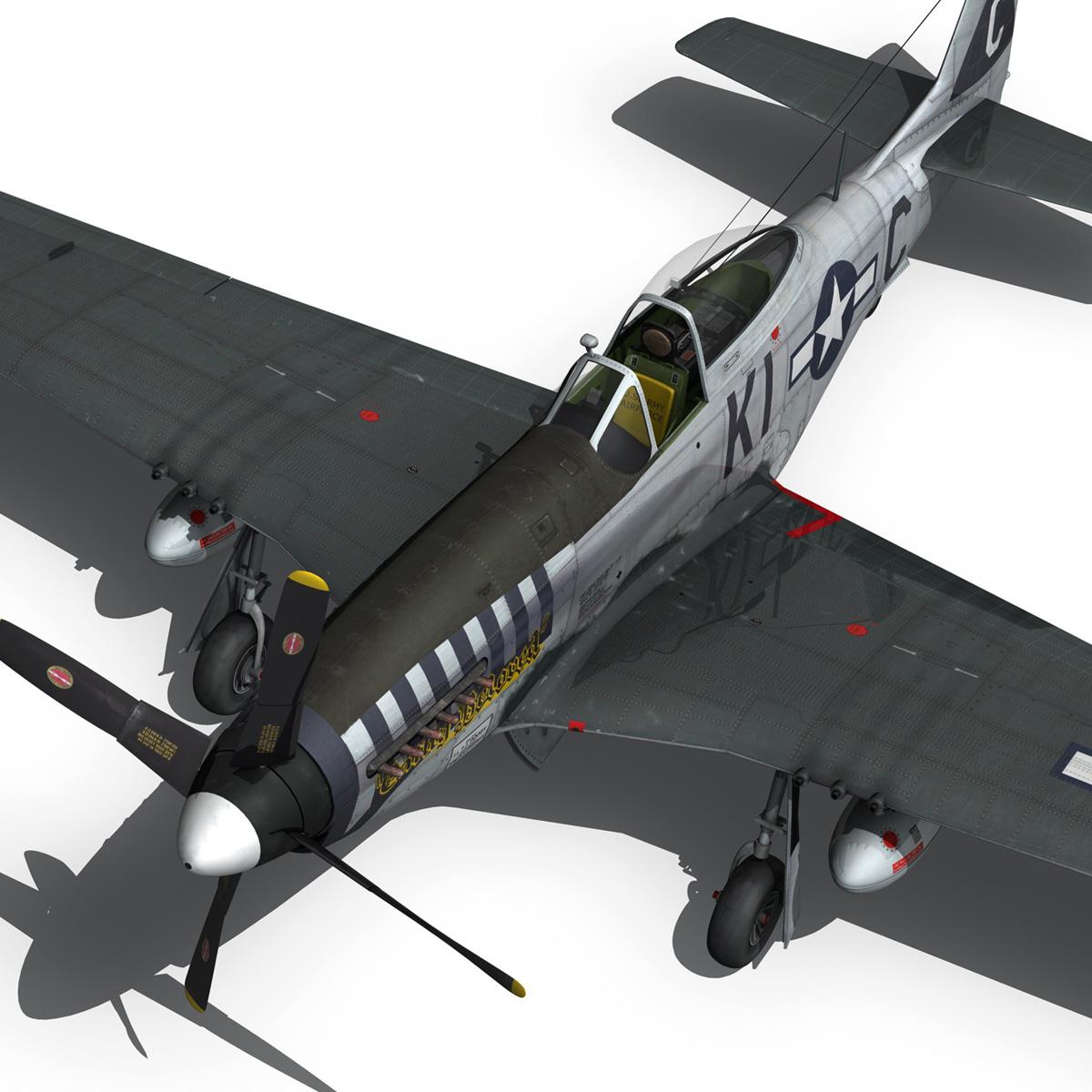 north american p-51d mustang – cathy beloved 3d model fbx lwo lw lws obj c4d 266543