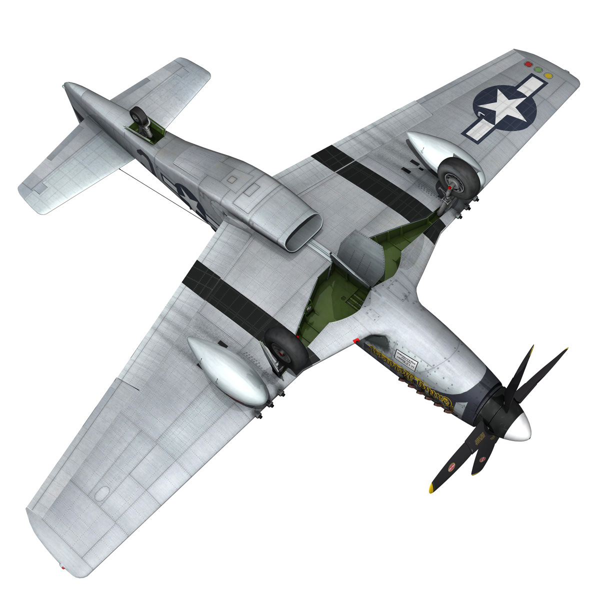 north american p-51d mustang – cathy beloved 3d model fbx lwo lw lws obj c4d 266545