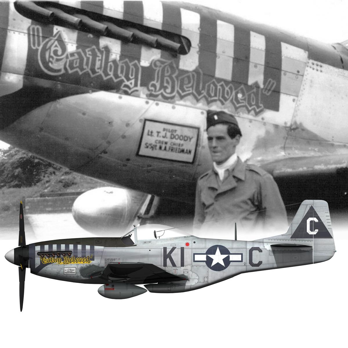 north american p-51d mustang – cathy beloved 3d model fbx lwo lw lws obj c4d 266546