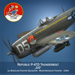 Republic P-47D Thunderbolt - Brazilian Air Force 3d model 0