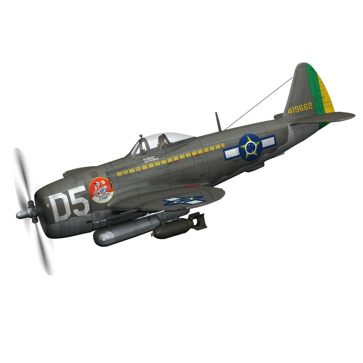 republic p-47d thunderbolt – brazilian air force 3d model lwo lw lws obj c4d fbx 266595