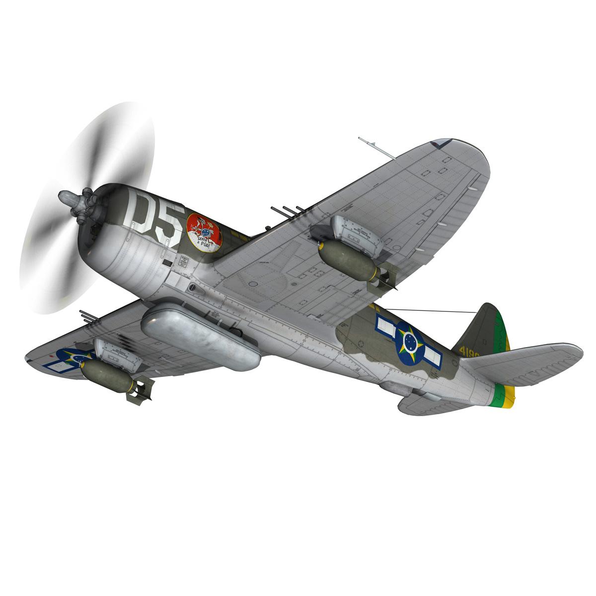 republic p-47d thunderbolt – brazilian air force 3d model lwo lw lws obj c4d fbx 266596