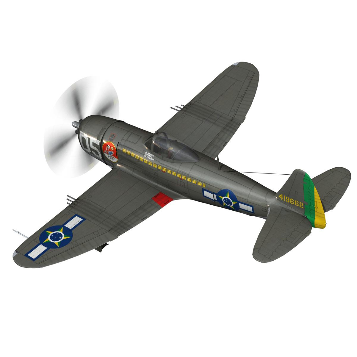 republic p-47d thunderbolt – brazilian air force 3d model lwo lw lws obj c4d fbx 266598