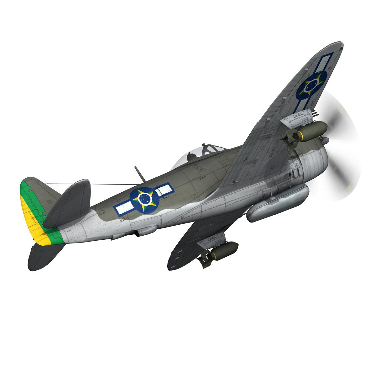 republic p-47d thunderbolt – brazilian air force 3d model lwo lw lws obj c4d fbx 266599
