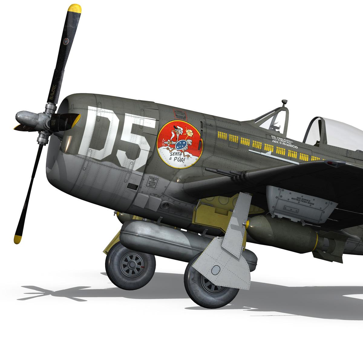 republic p-47d thunderbolt – brazilian air force 3d model lwo lw lws obj c4d fbx 266602