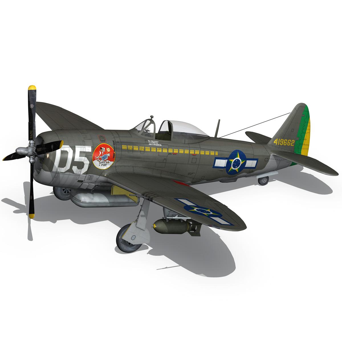 republic p-47d thunderbolt – brazilian air force 3d model lwo lw lws obj c4d fbx 266603