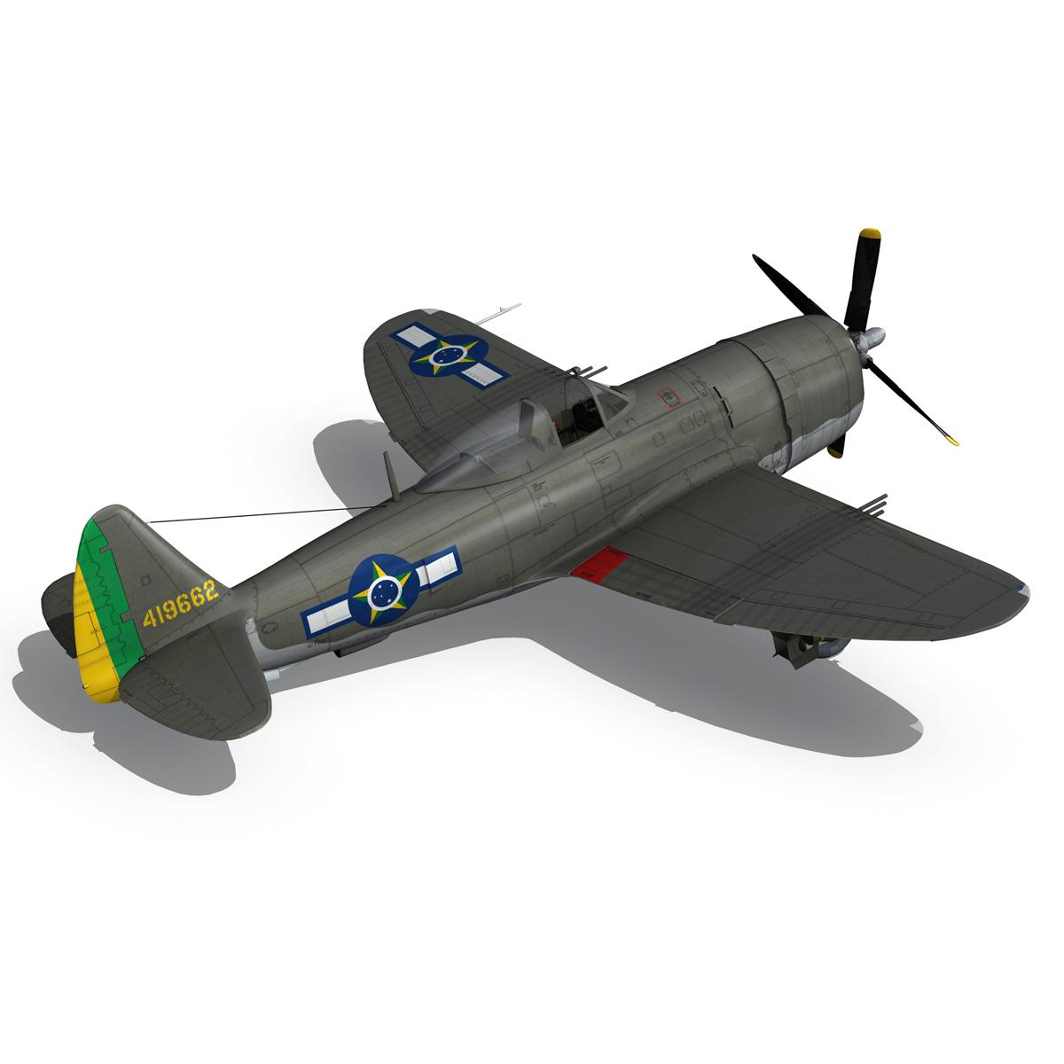 republic p-47d thunderbolt – brazilian air force 3d model lwo lw lws obj c4d fbx 266605