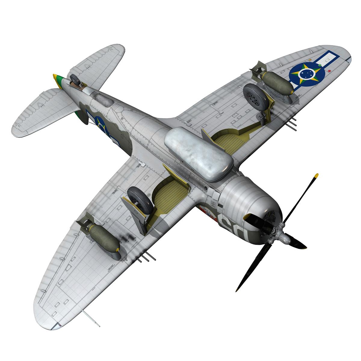 republic p-47d thunderbolt – brazilian air force 3d model lwo lw lws obj c4d fbx 266610