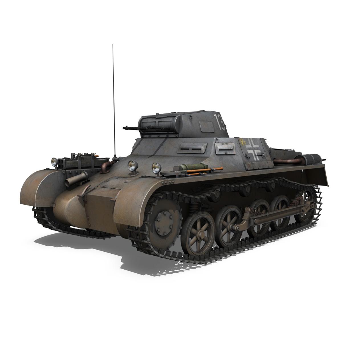 pzkpfw 1 – panzer 1 – ausf. a – 13 3d model 3ds fbx lwo lw lws obj c4d 266629