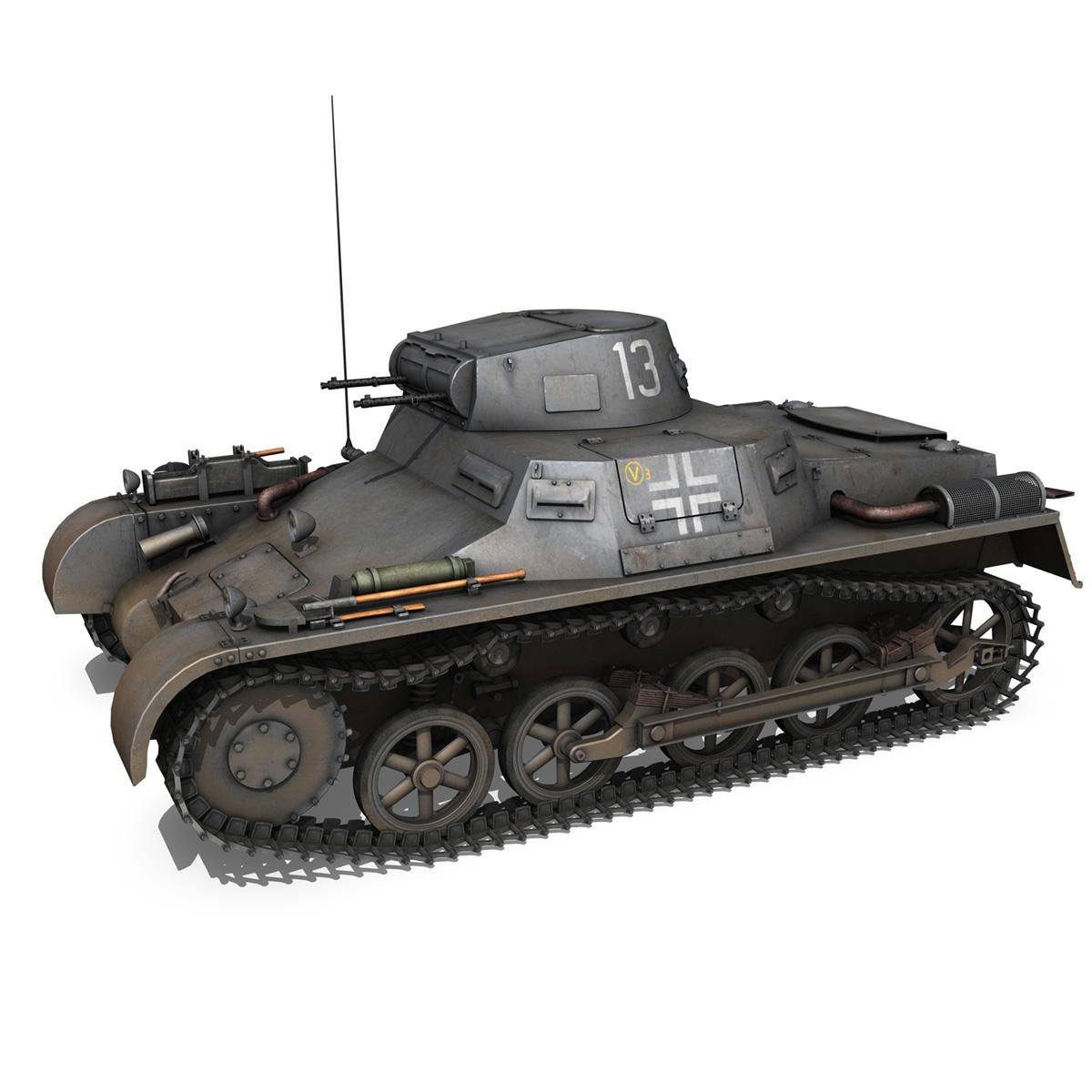 pzkpfw 1 – panzer 1 – ausf. a – 13 3d model 3ds fbx lwo lw lws obj c4d 266630