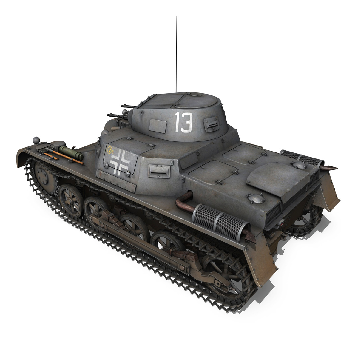 pzkpfw 1 – panzer 1 – ausf. a – 13 3d model 3ds fbx lwo lw lws obj c4d 266631