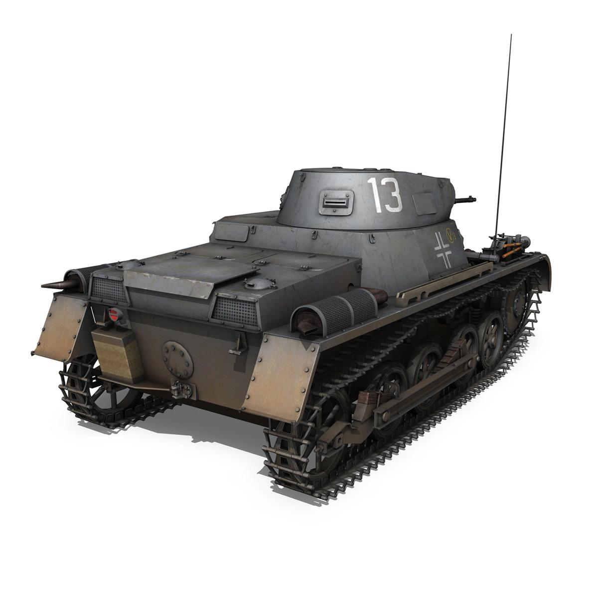 pzkpfw 1 – panzer 1 – ausf. a – 13 3d model 3ds fbx lwo lw lws obj c4d 266632