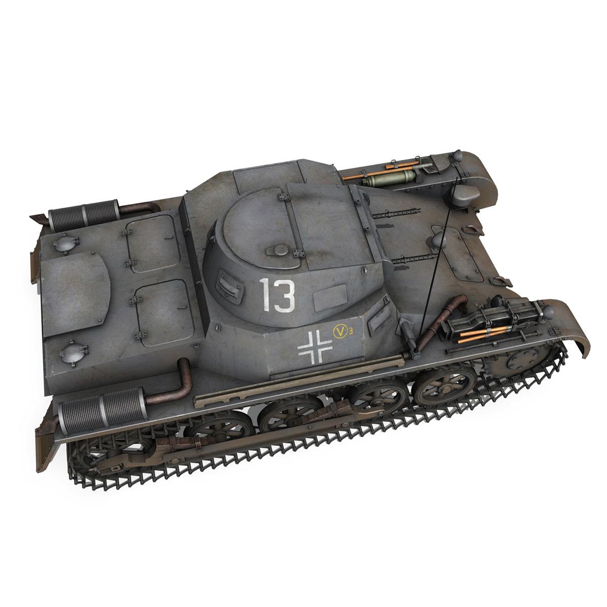 pzkpfw 1 – panzer 1 – ausf. a – 13 3d model 3ds fbx lwo lw lws obj c4d 266633