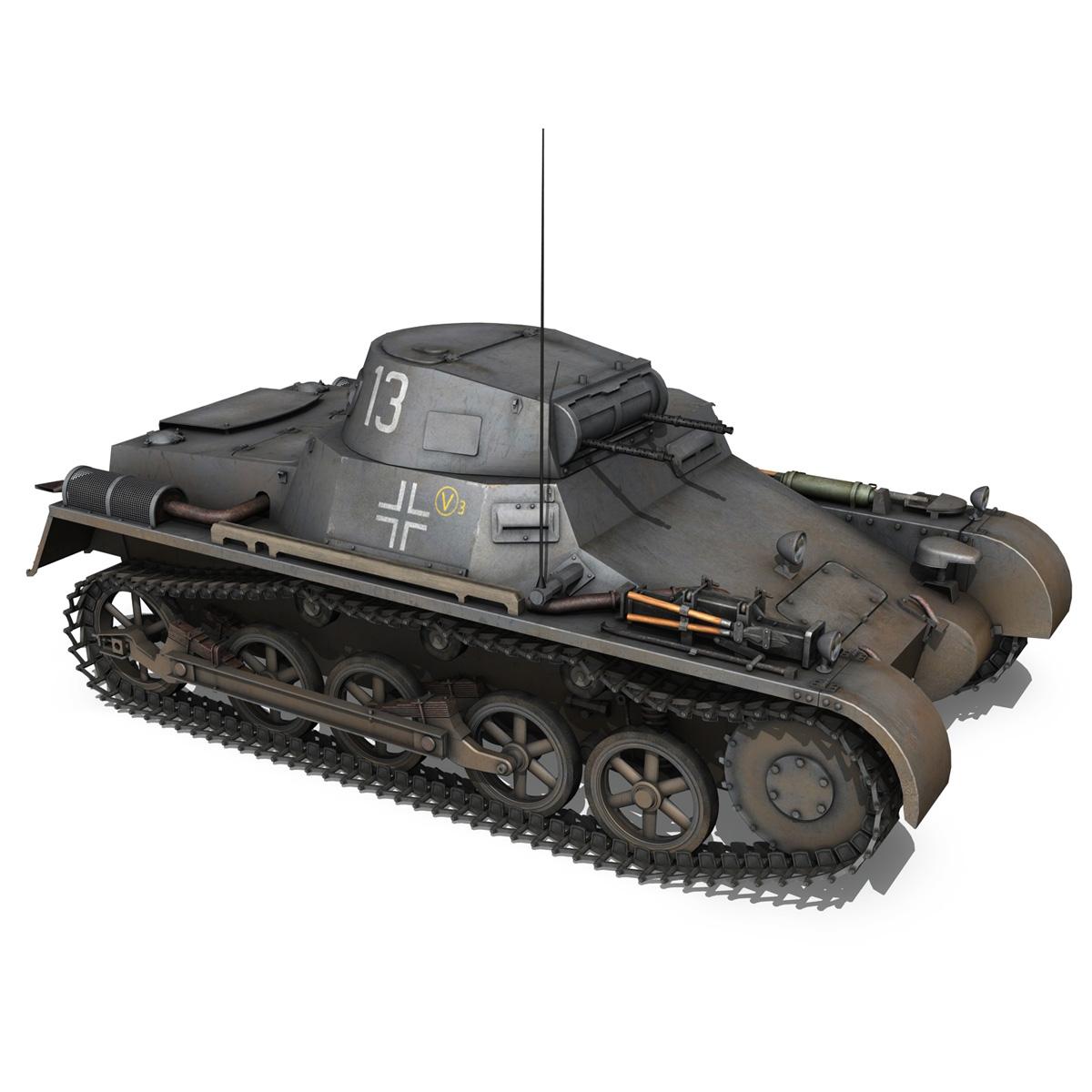 pzkpfw 1 – panzer 1 – ausf. a – 13 3d model 3ds fbx lwo lw lws obj c4d 266634