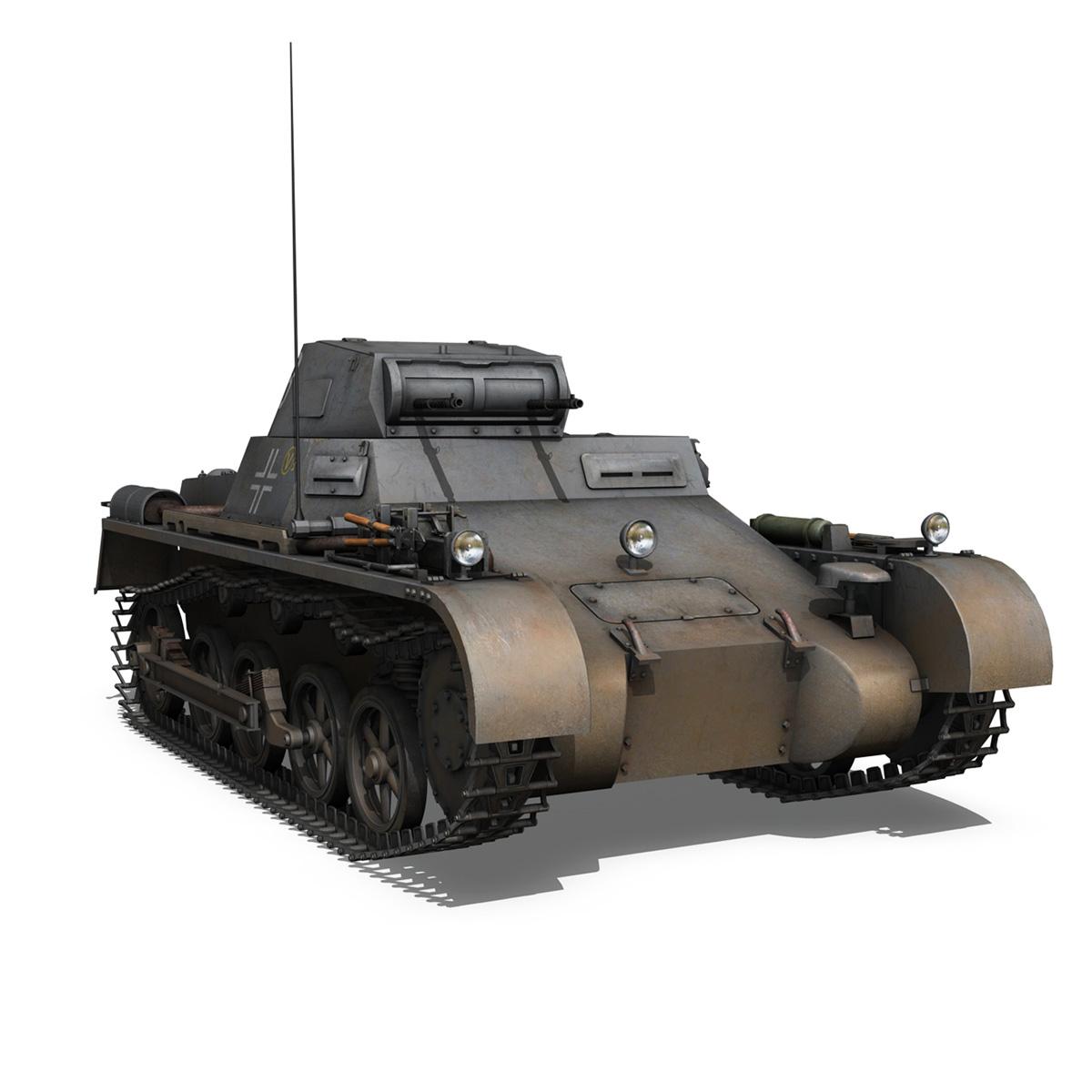 pzkpfw 1 – panzer 1 – ausf. a – 13 3d model 3ds fbx lwo lw lws obj c4d 266635