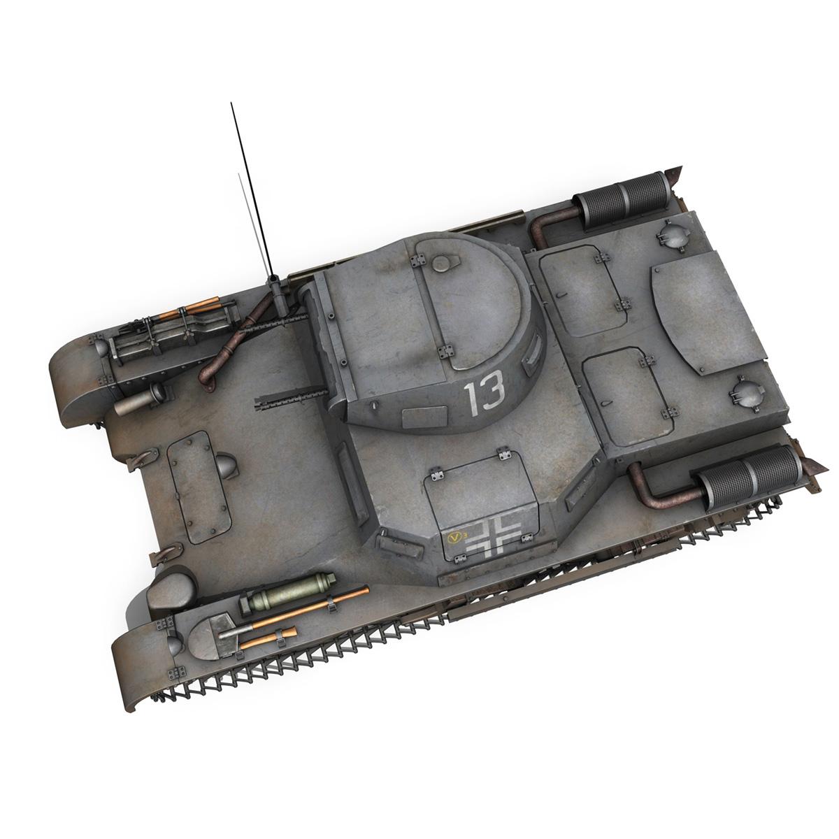 pzkpfw 1 – panzer 1 – ausf. a – 13 3d model 3ds fbx lwo lw lws obj c4d 266636