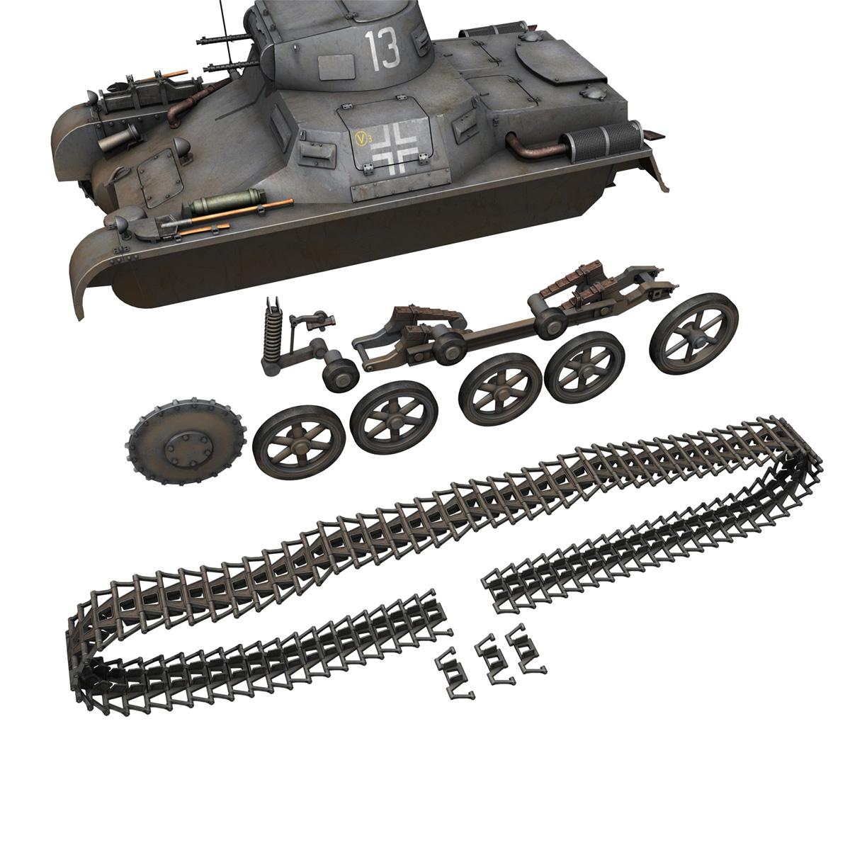 pzkpfw 1 – panzer 1 – ausf. a – 13 3d model 3ds fbx lwo lw lws obj c4d 266637