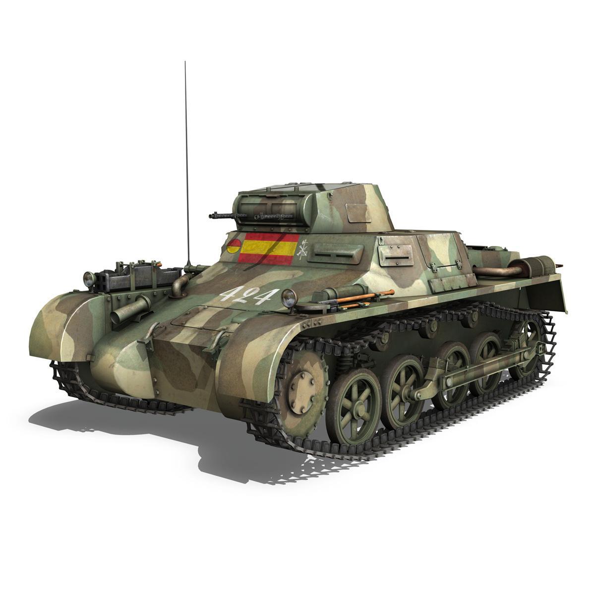 pzkpfw 1 – panzer 1 – ausf. a – 424 3d model 3ds fbx lwo lw lws obj c4d 266647