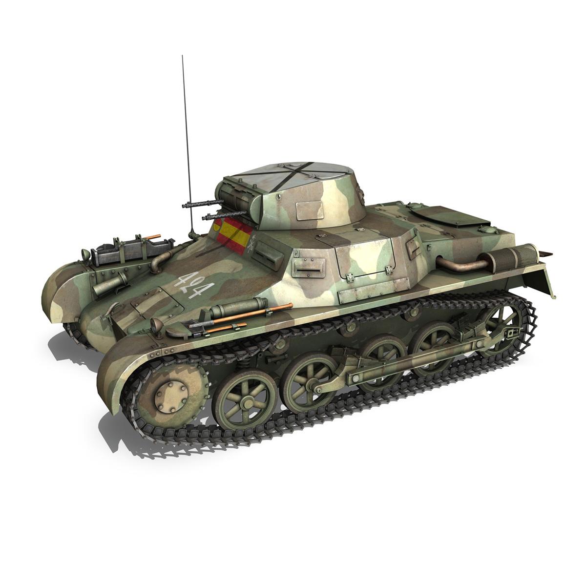 pzkpfw 1 – panzer 1 – ausf. a – 424 3d model 3ds fbx lwo lw lws obj c4d 266648