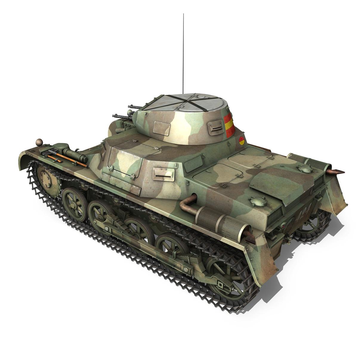 pzkpfw 1 – panzer 1 – ausf. a – 424 3d model 3ds fbx lwo lw lws obj c4d 266649