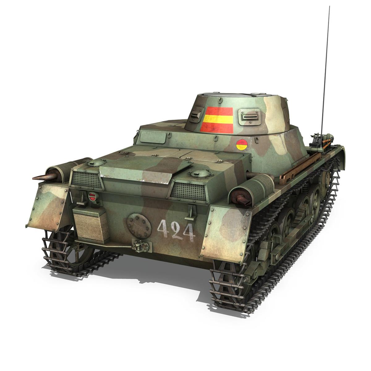 pzkpfw 1 – panzer 1 – ausf. a – 424 3d model 3ds fbx lwo lw lws obj c4d 266650
