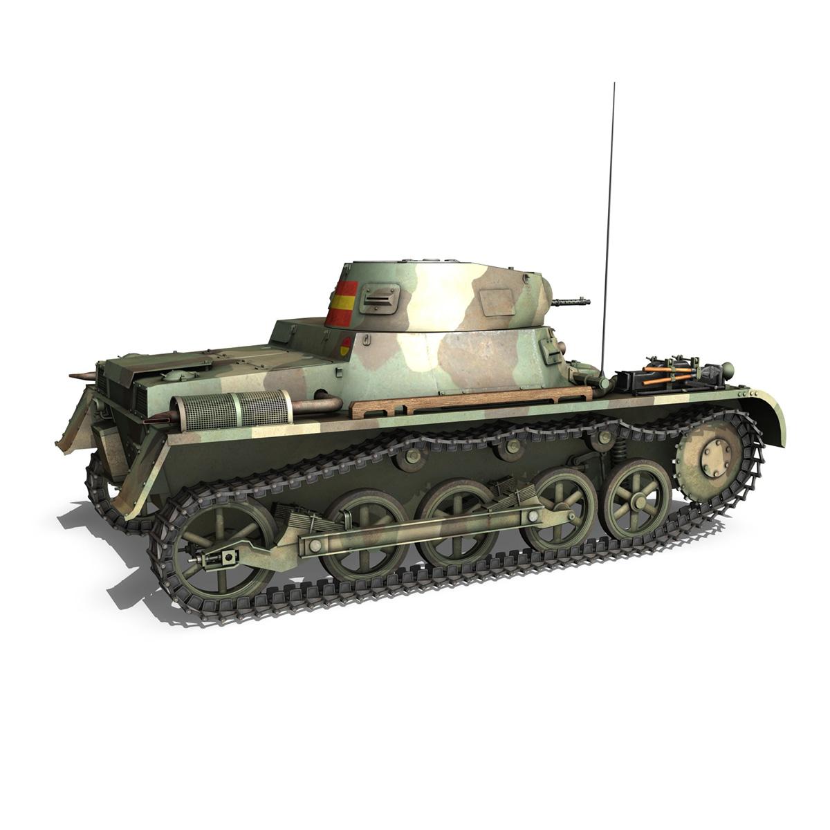 pzkpfw 1 – panzer 1 – ausf. a – 424 3d model 3ds fbx lwo lw lws obj c4d 266651