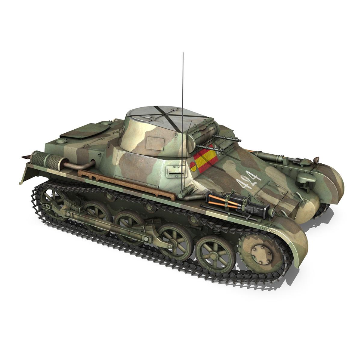 pzkpfw 1 – panzer 1 – ausf. a – 424 3d model 3ds fbx lwo lw lws obj c4d 266652