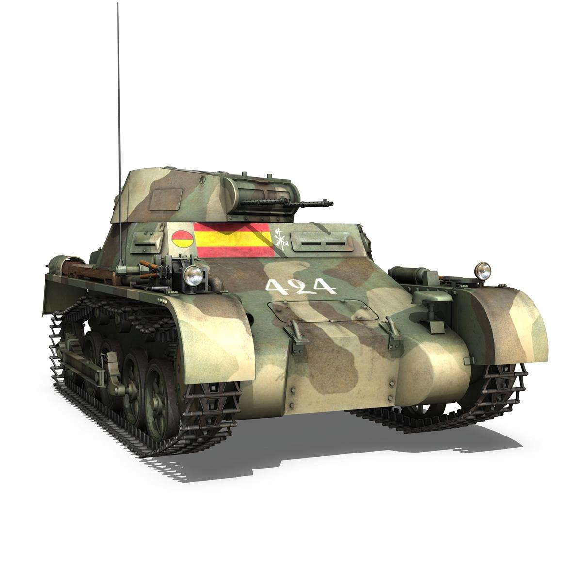 pzkpfw 1 – panzer 1 – ausf. a – 424 3d model 3ds fbx lwo lw lws obj c4d 266653
