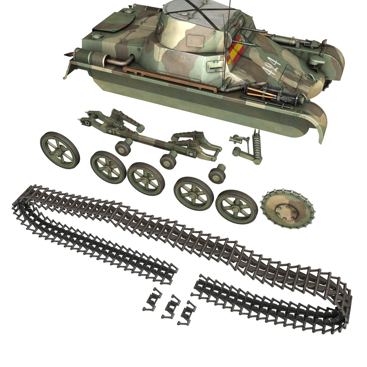 pzkpfw 1 – panzer 1 – ausf. a – 424 3d model 3ds fbx lwo lw lws obj c4d 266655