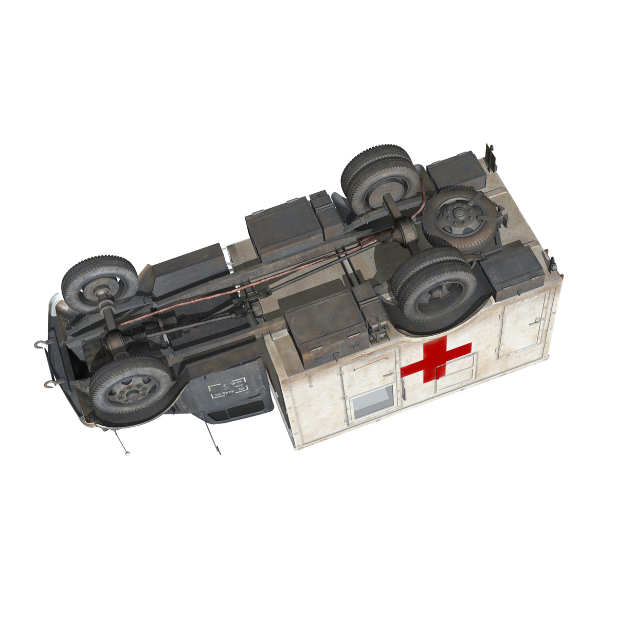 opel blitz - 3t ātrās palīdzības automašīna - 11 pzdiv 3d modelis 3ds fwx lws lws obj c4d 266708