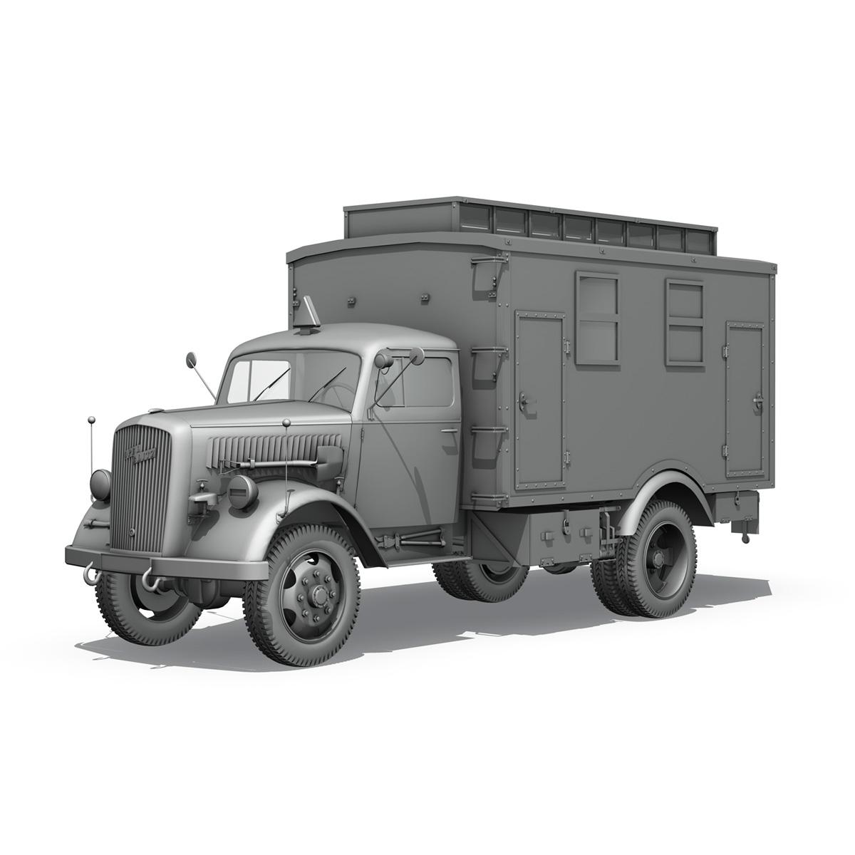 opel blitz - 3t ātrās palīdzības automašīna - 11 pzdiv 3d modelis 3ds fwx lws lws obj c4d 266709