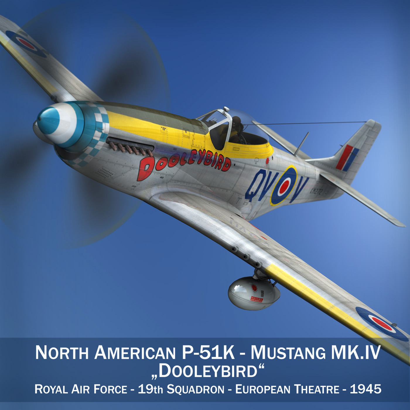 north american p-51k mustang mk.iv – dooleybird 3d model fbx lwo lw lws obj c4d 266716