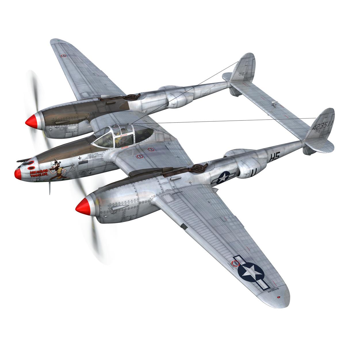lockheed p-38 lightning – arkansas traveler 3d model fbx lwo lw lws obj c4d 266743