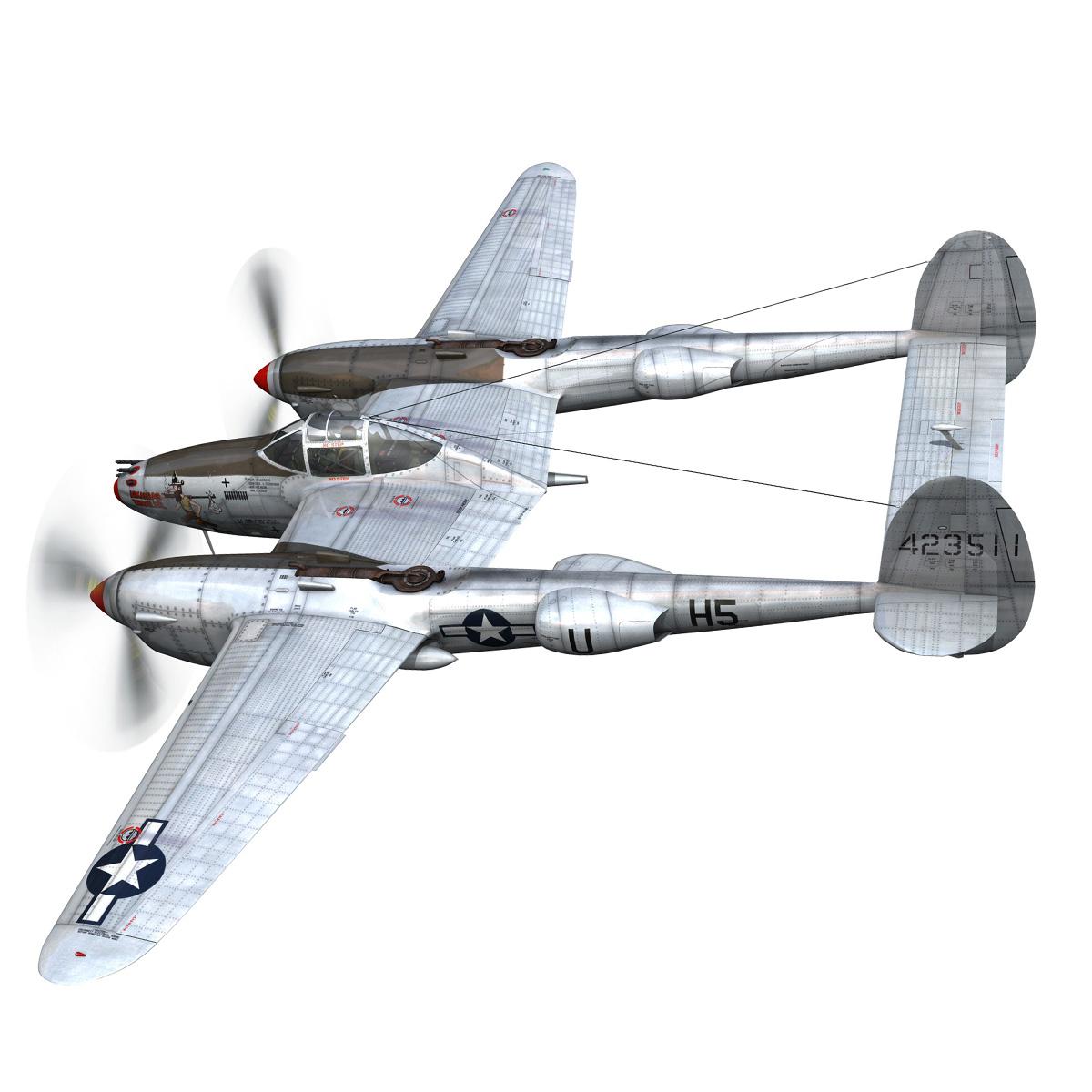 lockheed p-38 lightning – arkansas traveler 3d model fbx lwo lw lws obj c4d 266744