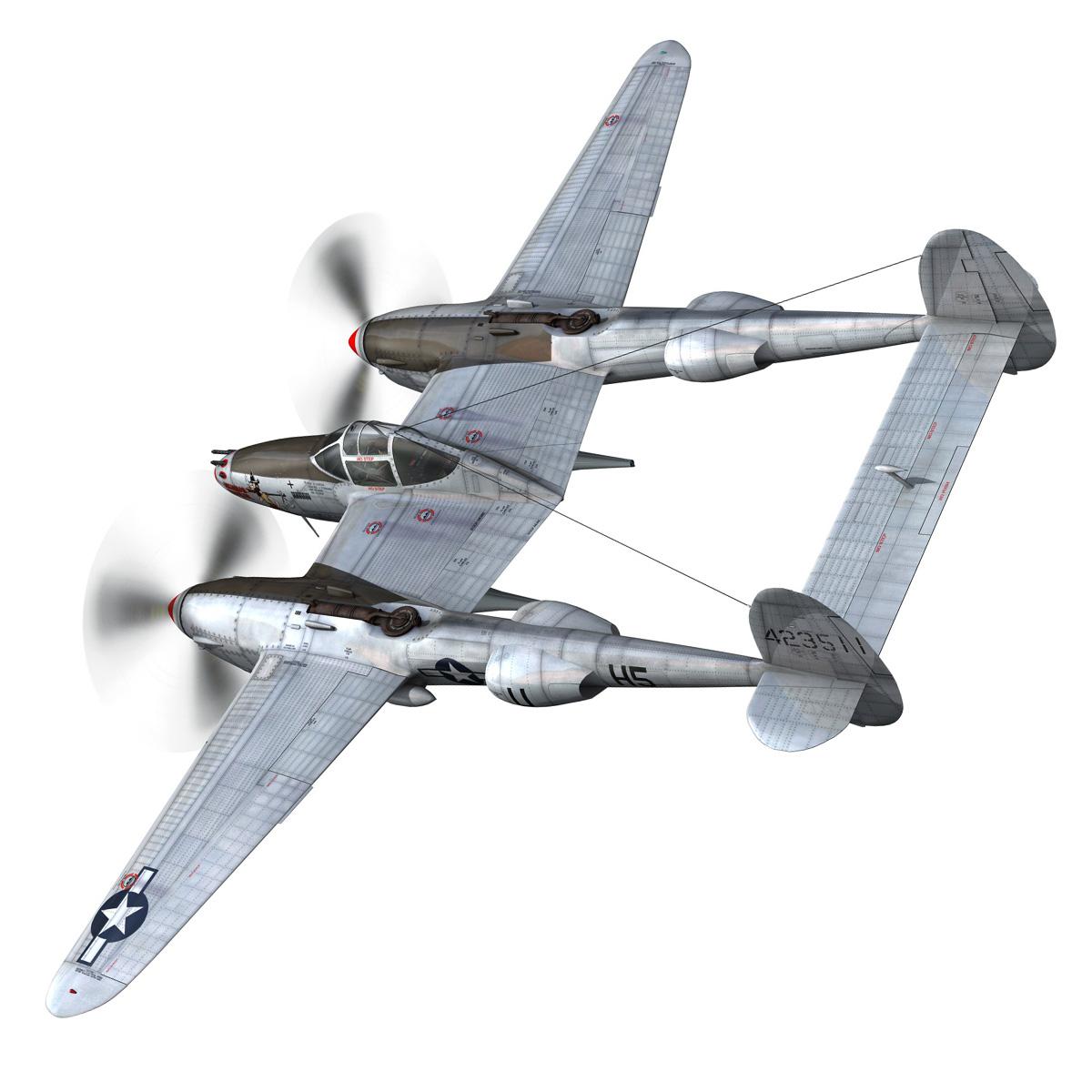 lockheed p-38 lightning – arkansas traveler 3d model fbx lwo lw lws obj c4d 266745