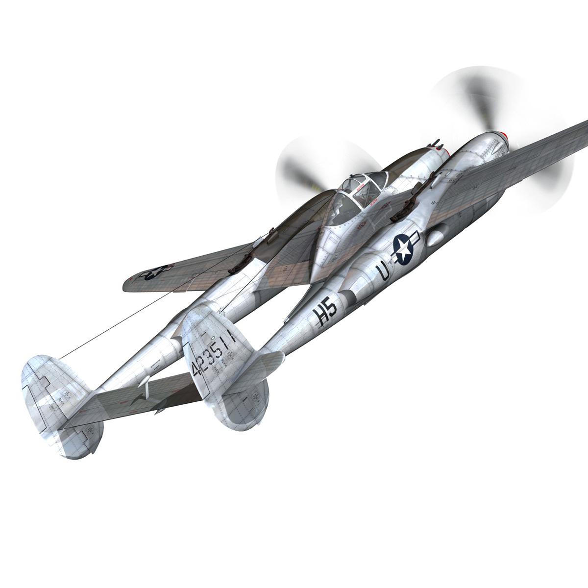 lockheed p-38 lightning – arkansas traveler 3d model fbx lwo lw lws obj c4d 266746