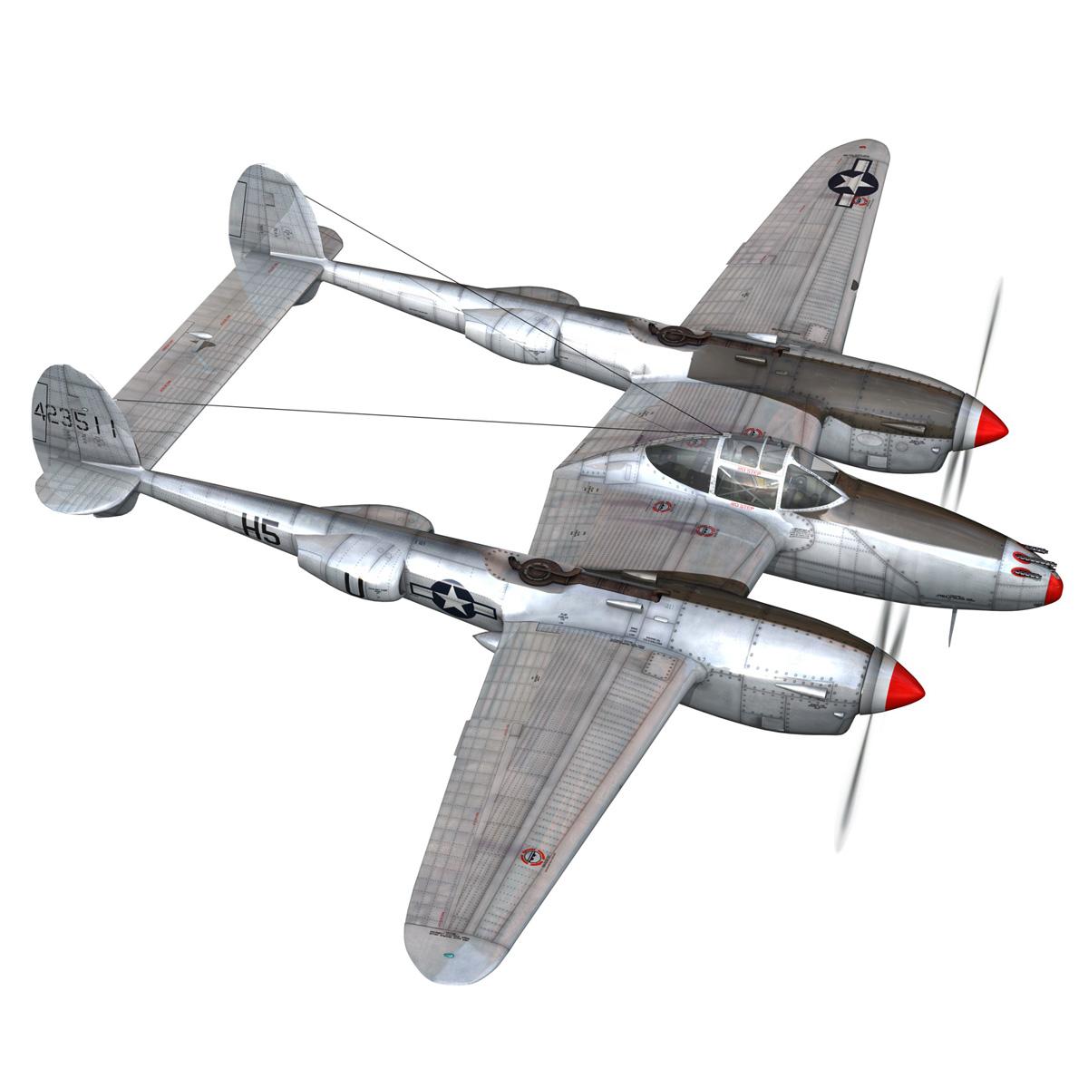 lockheed p-38 lightning – arkansas traveler 3d model fbx lwo lw lws obj c4d 266747