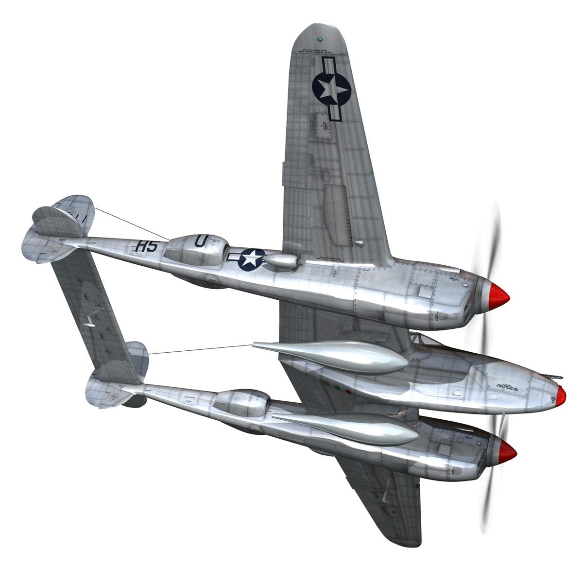 lockheed p-38 lightning – arkansas traveler 3d model fbx lwo lw lws obj c4d 266748