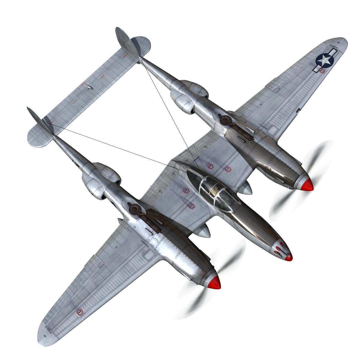 lockheed p-38 lightning – arkansas traveler 3d model fbx lwo lw lws obj c4d 266749
